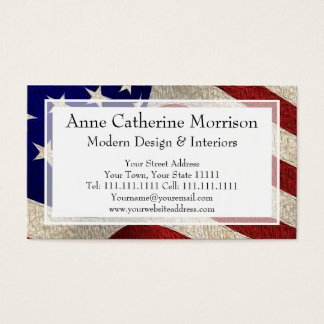 Tarjeta De Visita Bandera americana de los E.E.U.U. de las barras y