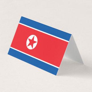 Tarjeta De Visita Bandera de Corea del Norte