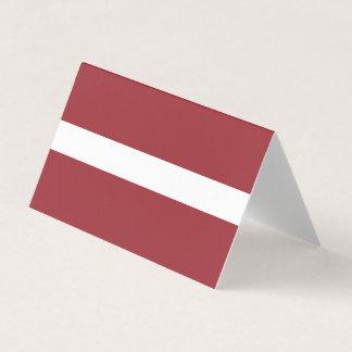 Tarjeta De Visita Bandera de Letonia