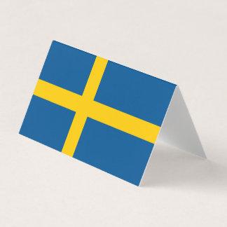 Tarjeta De Visita Bandera de Suecia