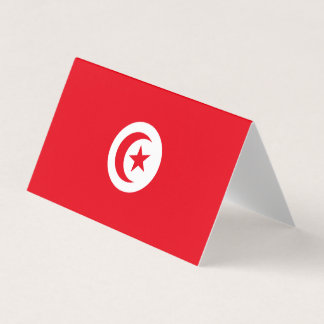 Tarjeta De Visita Bandera de Túnez