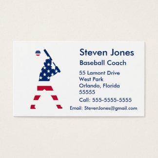 Tarjeta De Visita Bandera del americano del béisbol de América