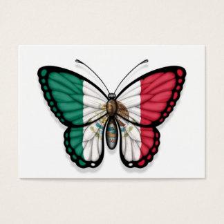 Tarjeta De Visita Bandera mexicana de la mariposa