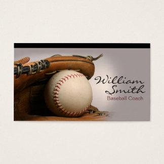 Tarjeta De Visita Baseball Coach Business Card