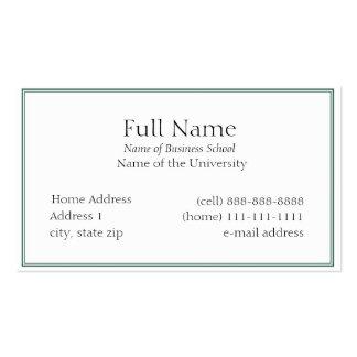 Tarjeta de visita básica para Students or Company