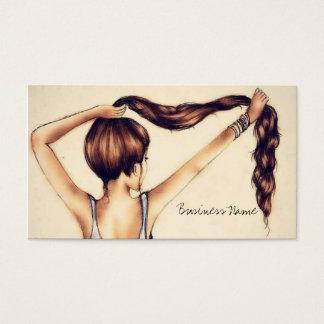 Tarjeta De Visita Belleza larga del pelo