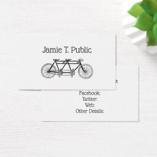 Tarjeta De Visita Bicicleta del vintage construida para dos/bici en
