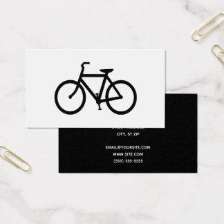 Tarjeta De Visita Bicicleta negra