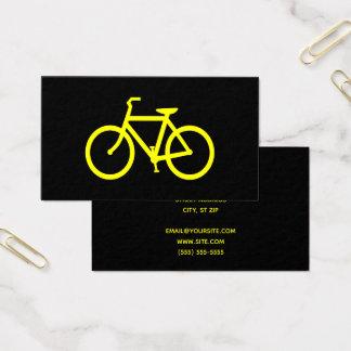 Tarjeta De Visita Bicicleta negra y amarilla