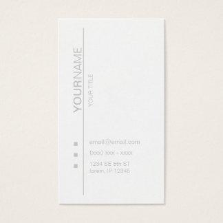 Tarjeta de visita blanca moderna del opus