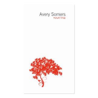 Tarjeta de visita blanca simple del logotipo rojo