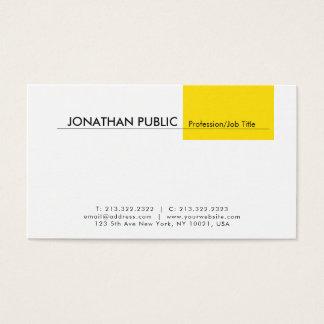 Tarjeta De Visita Blanco amarillo simple elegante profesional