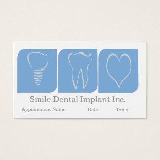 Tarjeta De Visita Blanco azul de la oficina del dentista del