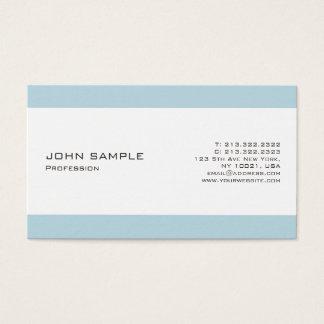 Tarjeta De Visita Blanco azul profesional moderno minimalista