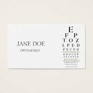 Tarjeta De Visita Blanco de la carta del optometrista/rayas del oro