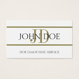 Tarjeta De Visita Blanco del servicio de limusina/raya del oro