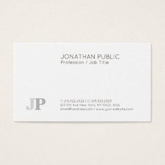 Tarjeta De Visita Blanco elegante moderno llano profesional del