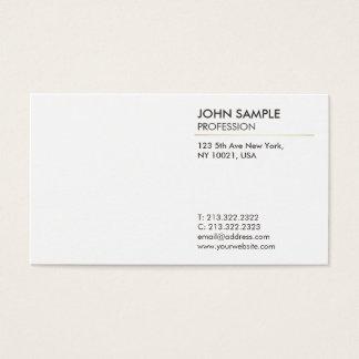 Tarjeta De Visita Blanco elegante profesional moderno llano mínimo