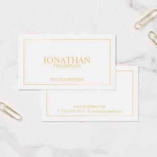 Tarjeta De Visita Blanco elegante profesional y oro