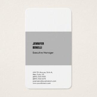 Tarjeta De Visita Blanco gris moderno minimalista profesional