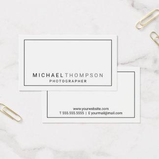 Tarjeta De Visita Blanco minimalista profesional