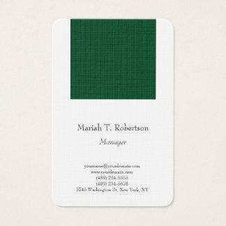 Tarjeta De Visita Blanco minimalista simple llano de moda del Forest