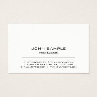 Tarjeta De Visita Blanco moderno profesional y gris minimalistas