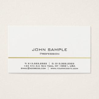 Tarjeta De Visita Blanco moderno profesional y oro de Minimalistic