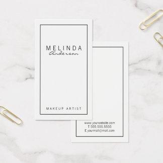 Tarjeta De Visita Blanco moderno simple profesional