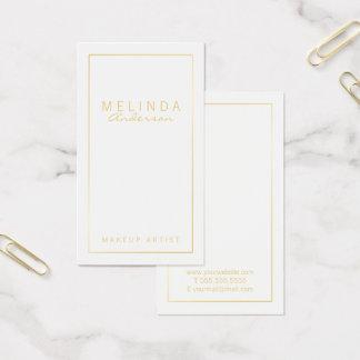 Tarjeta De Visita Blanco moderno simple profesional y oro