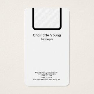 Tarjeta De Visita Blanco negro profesional minimalista simple llano