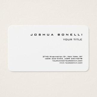 Tarjeta De Visita Blanco negro profesional simple minimalista
