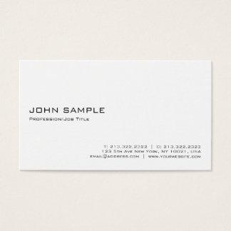 Tarjeta De Visita Blanco profesional elegante moderno minimalista