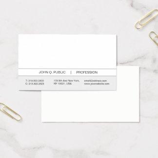 Tarjeta De Visita Blanco simple moderno profesional y gris de moda