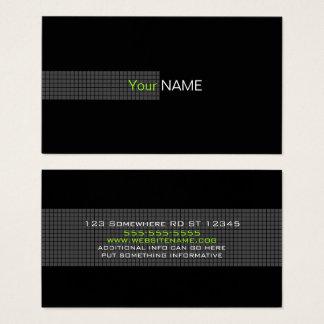 Tarjeta De Visita Blanco verde negro contemporáneo
