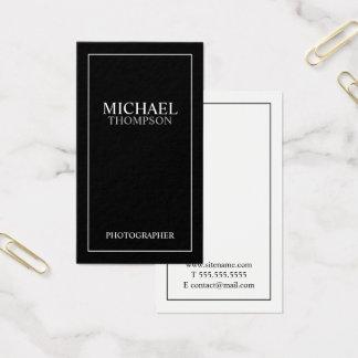 Tarjeta De Visita Blanco y negro clásico profesional