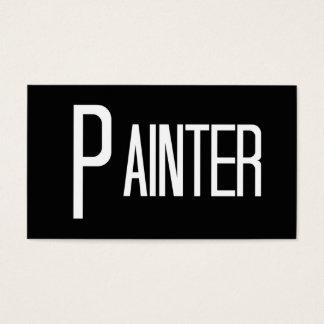 Tarjeta de visita blanco y negro del pintor