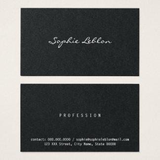 Tarjeta De Visita blanco y negro elegante minimalista