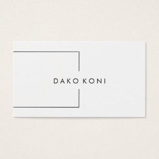 Tarjeta De Visita Blanco y negro minimalista elegante