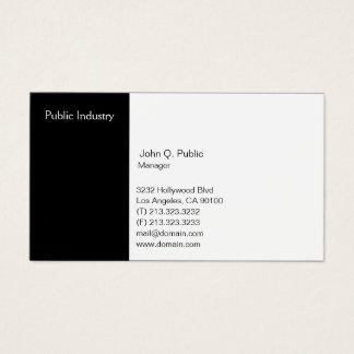 Tarjeta De Visita Blanco y negro profesional moderno simple