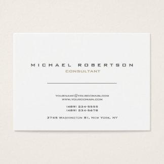 Tarjeta De Visita Blancos modernos exclusivos limpian