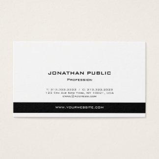 Tarjeta De Visita Blancos y negros elegantes modernos profesionales