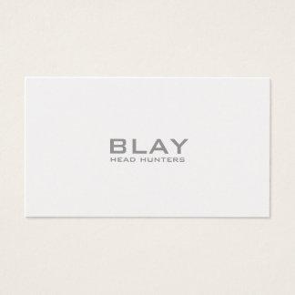 Tarjeta De Visita BLAY, cazadores principales