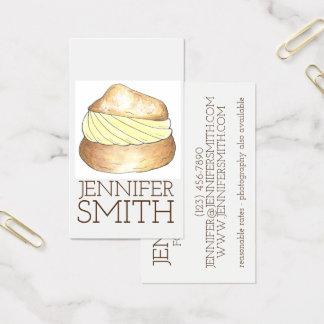 Tarjeta De Visita Blogger poner crema de la comida de la panadería