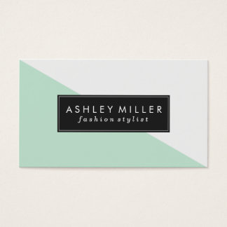 Tarjeta De Visita Bloque moderno del color de la verde menta
