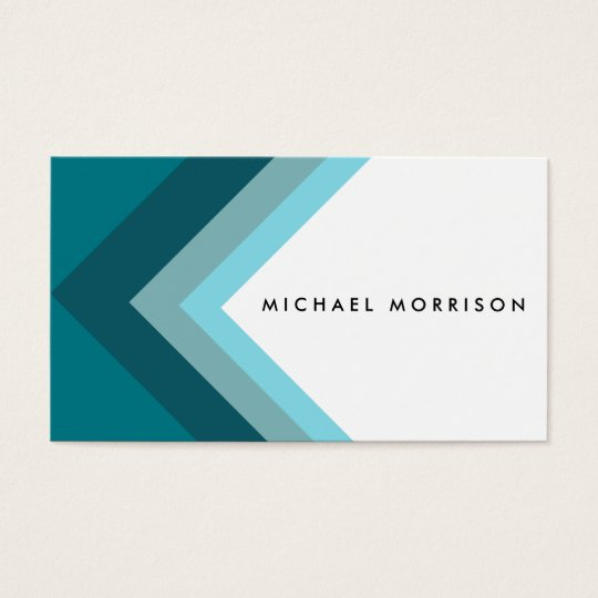 Tarjeta De Visita Blue mint arrow geometric minimal modern design