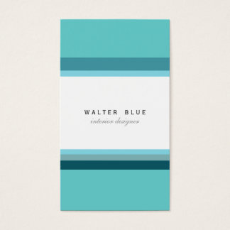 Tarjeta De Visita Blue professional corporate elegant modern simple