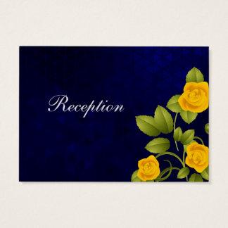 Tarjeta De Visita Boda del rosa azul marino y amarillo