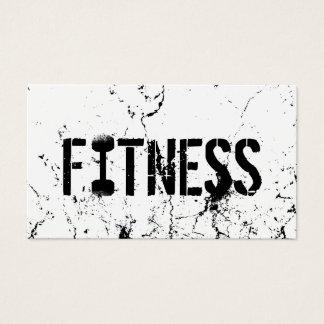 Tarjeta De Visita Bodybuilding intrépido del Grunge del texto del