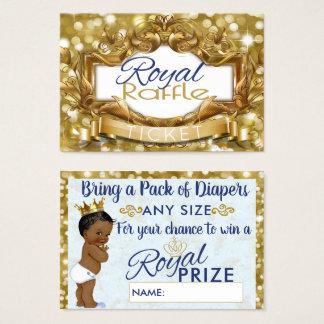 Tarjeta De Visita Boletos reales de príncipe Gold Glitter Diaper